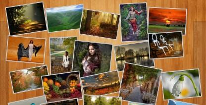 wallpaper photo pile