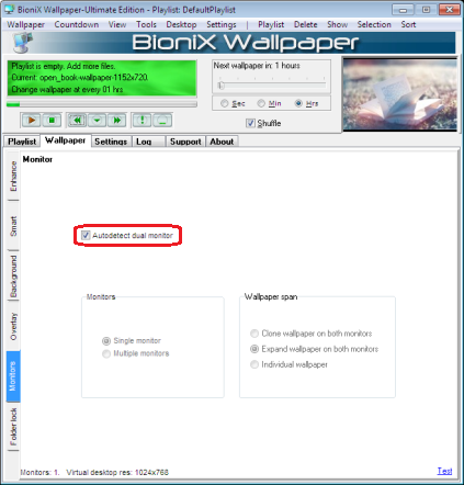 BioniX Background Switcher Dual Monitor