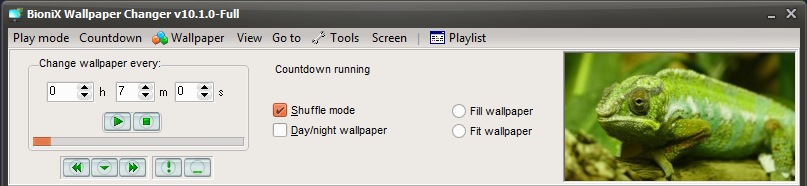 BioniX Desktop Wallpaper Main Interface
